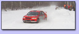 Widget Rally Team at 2004 SnoDrift Rally. Photo by Go Fast Photo.